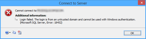 SSMS connection error